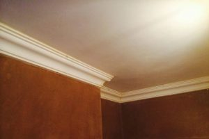 image of fitted plaster coving