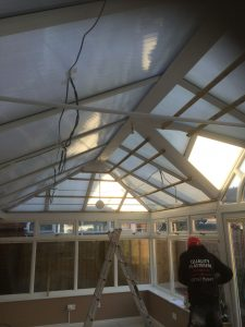 image of conservatory before insulated conservatory roof