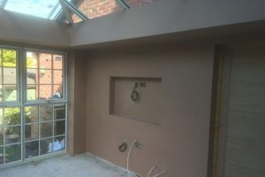 image showing wall mounted tv ideas for conservatory