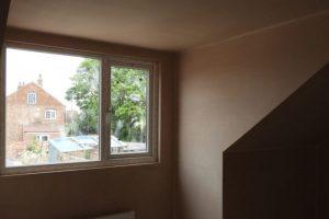 image of bedroom after reskimming
