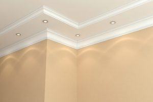 image showing plaster coving with spot lights