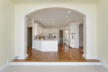 image showing plaster arch into kitchen