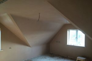 image of a room where skimming plaster has been carried out