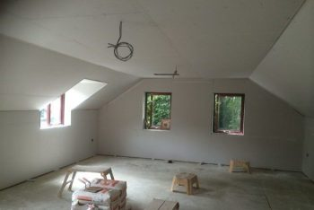 image of plaster boarding in a room