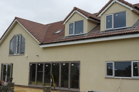 house with monocouche coloured render in mission doncaster
